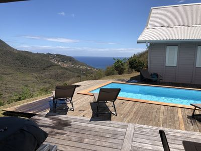 Photo for 3 Chalets with Pool & Jacuzzi Caribbean Sea views Anses d'Arlet