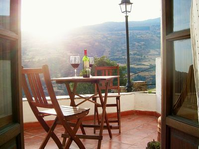 Photo for Apartment and terrace with stunning views in Bubión, Las Alpujarras.