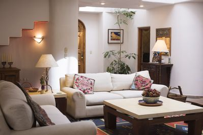 The central living area is very comfortable and accommodates a large group well