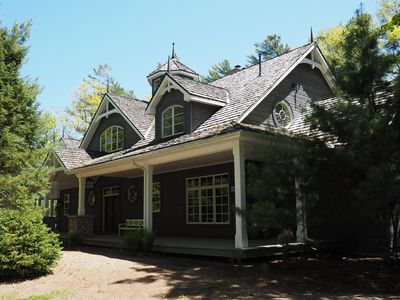 Photo for Custom Built 5 brdm, 4 bath on Lake of Bays! Sandy Beach! Boathouse! SW Exposure