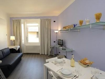 Photo for Lavanda in the heart of  Stresa, minutes from Lake Maggiore, terrace, WiFi, A/C