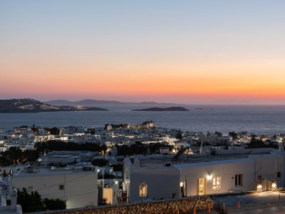Photo for 'GaZìa'. Exquisite sea view apartment in Mykonos town.