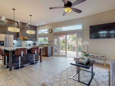 Photo for NEW LISTING! Newly renovated home w/outdoor fireplace, grill - close to beach