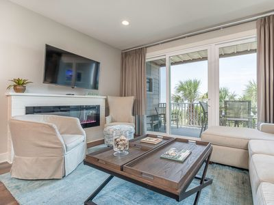 Beautifully Furnished, Directly Oceanfront Townhome at Beachfront Resort with Community Pools
