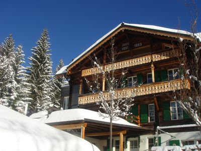 Photo for Luxury, 5 star tourism rated ski chalet in Murren with 360 views