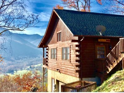 Photo for MAGGIE FAVORITE 3/3 FAMILY LOG CABIN with GREAT VIEWS, LARGE GAME ROOM & HOT TUB