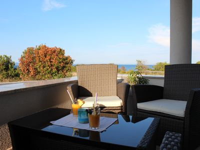 Photo for Child friendly holiday house 4-6 persons, fantastic sea view, pool, WiFi