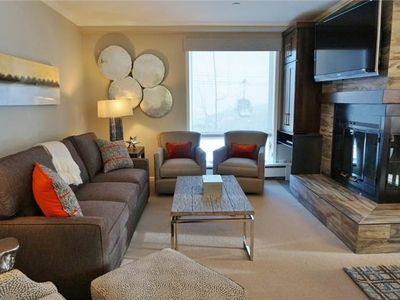 Photo for Ski-In/Ski-Out Condo with Stylish and Modern Decor, Hot Tub Access, and Wood-Burning Fireplace