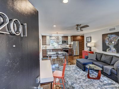 Photo for Eclectic Mid Century Modern Apartment w/ Luxe Bath - 1 Mile to Uptown