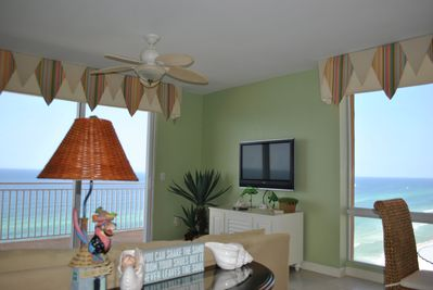 Splash Beachfront Condo With Incredible Sunset Views from the Main Living Room