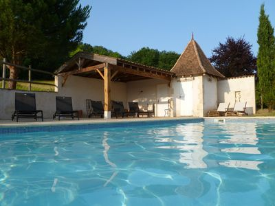 Photo for Magnificent  Maison de Maître & Cottage Sleeping 14 with Pool & Games Room