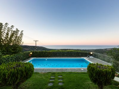 Photo for Villa Katerina, Panoramic Views in Total Quietness, Close to the Beach & City!