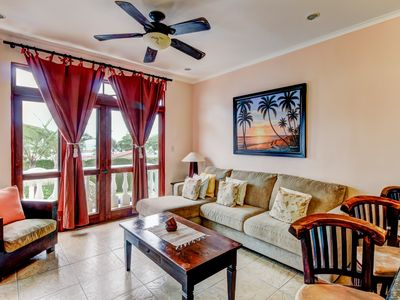 Photo for Poolside condo in oceanfront resort offers easy beach access, private balcony!