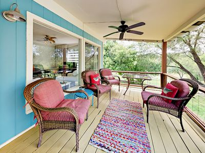 Photo for Waterfront 2BR w/ Patio Overlooking Lake Travis - Near World-Class Wineries
