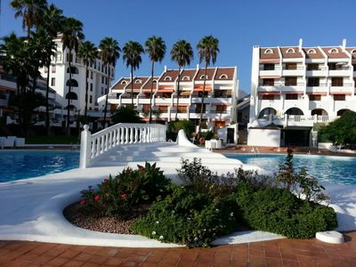 Photo for Apartment Parque Santiago, seafront and beach, heated pool, central, Wifi, TV