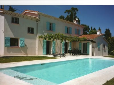 Photo for Villa / house air-conditioned, with pool Antibes-Juan Les Pins 100m from beach