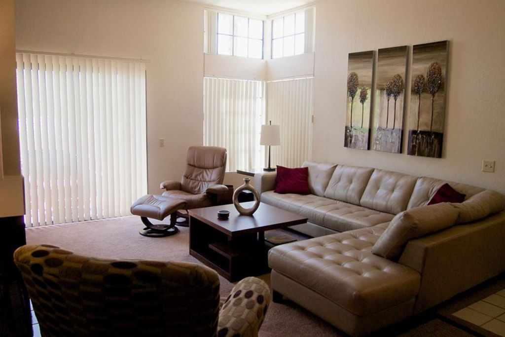 Living Room. Planet Claire   Swanky Palm Springs Condo      HomeAway Palm Springs