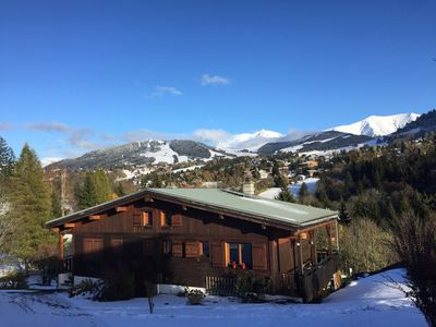 Photo for Cozy Half Chalet with Mont-Blanc View + Tennis