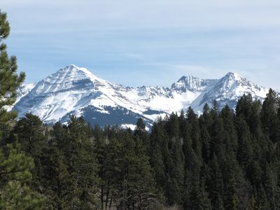 View of Hesperus Peak from the Spring Creek Trail near the cabin