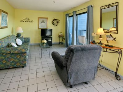 Photo for Myrtle Beach Resort B346 | Delightful Condo Overlooking Indoor Pool