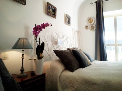 Photo for Apartment with view, central in Pacentro, renovated with garden