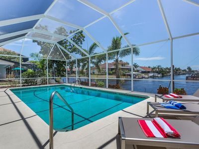Photo for BLUESKY - comfortable waterfront home, western exposure, solar heatable pool