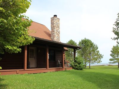 Photo for Cozy Log Home on 2 Private Acres Right on Lake Michigan
