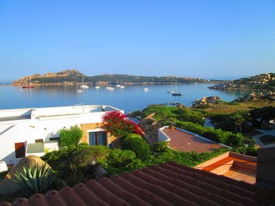 """Photo for Cozy Apartment """"Sul Mare a Santa Reparata"""" with Wi-Fi, Sea View, Terrace & Garden; Parking Available"""