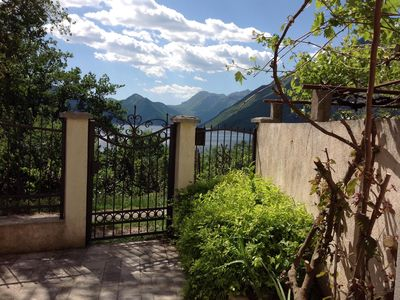 Photo for Rustic Stone Villa with stunning views of Kotor Bay and the mountains.