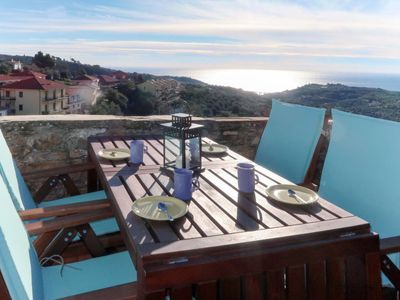 Photo for 2 bedroom Villa, sleeps 5 in Civezza with WiFi
