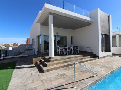 Photo for SUPERB NEW HYPER MODERN HOUSE 3 BEDROOMS WITH POOL 8M TO 4MN FROM THE SEA