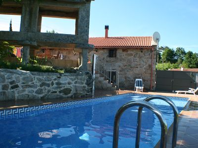 Photo for Stunning villa with pool in a rural hamlet setting up in the hills above Vigo