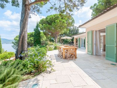 Photo for Fantastic Villa Le Sprizze with Wi-Fi, Air Conditioning, Garden & Terrace with Sea View; Parking Available, Pets Allowed