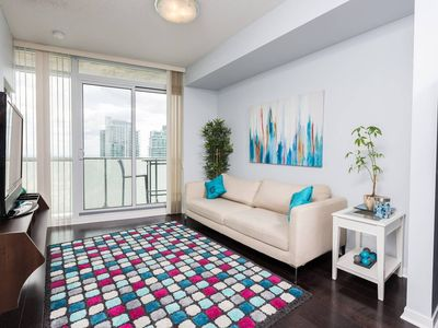 Photo for Bright and Charming, Maple Leaf Sq. + Balcony,  Sleeps up to 6, Panoramic View