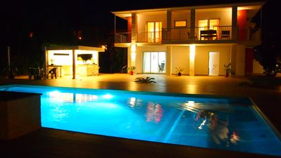Photo for OFERTA 35% !! Beach villa with new large pool, modern outdoor area & Jacuzz