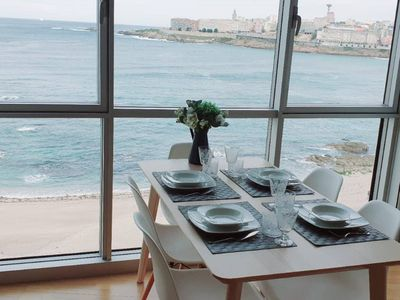 Photo for Apartment with incredible views of Riazor beach
