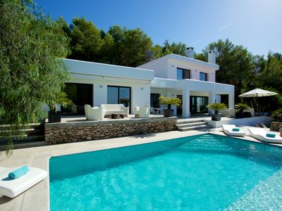 Photo for Ultimate 4 Bedroom Villa with Beautiful Sunset Views, Ibiza Villa 1046