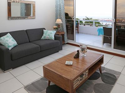Photo for Blue One unit - Papeete - sea view - 1 bedroom - clim & WiFi - pool - 4 per