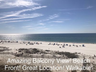 MAY DATES STILL AVAIL! (2n min)! Amazing Balcony View! Beach Front! Walkable!