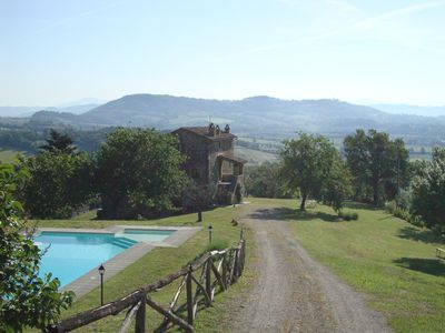 Photo for Private Tuscan Farmhouse with 360deg Views