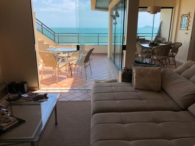Photo for Spectacular oceanfront penthouse, walk in the sand