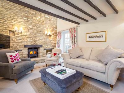 Photo for Woodbine Cottage is a beautiful, grade II listed Cotswold stone property, with a lovely garden.