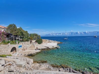 Photo for One bedroom Apartment, sleeps 3 in Pokrivenik with Air Con and WiFi