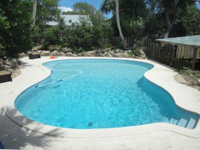 Salt Water Pool with Wrap Around Concrete Deck