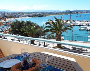 Photo for Elegant APT with amazing SEAVIEWS, by sandy beach & Chania old town and center