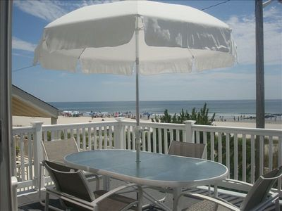Spectacular ocean front view from the comfort of the deck any time of the day!