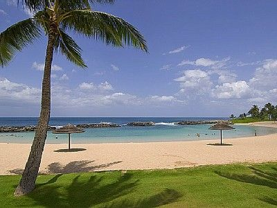 Relax under the Thatched Umbrella's at Ko Olina Lagoon #2