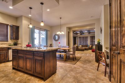 Kitchen, Dining area, and Great room
