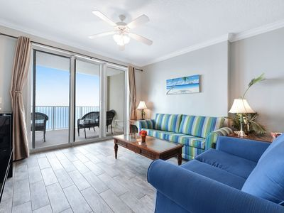 Photo for Beachfront condo with shared pool & hot tub, near Pier Park!