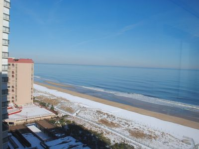 Photo for Traditional 2 bedroom oceanfront condo with WiFi, an indoor pool, a game room, and an awesome view of the ocean located uptown and mere steps to the beach!